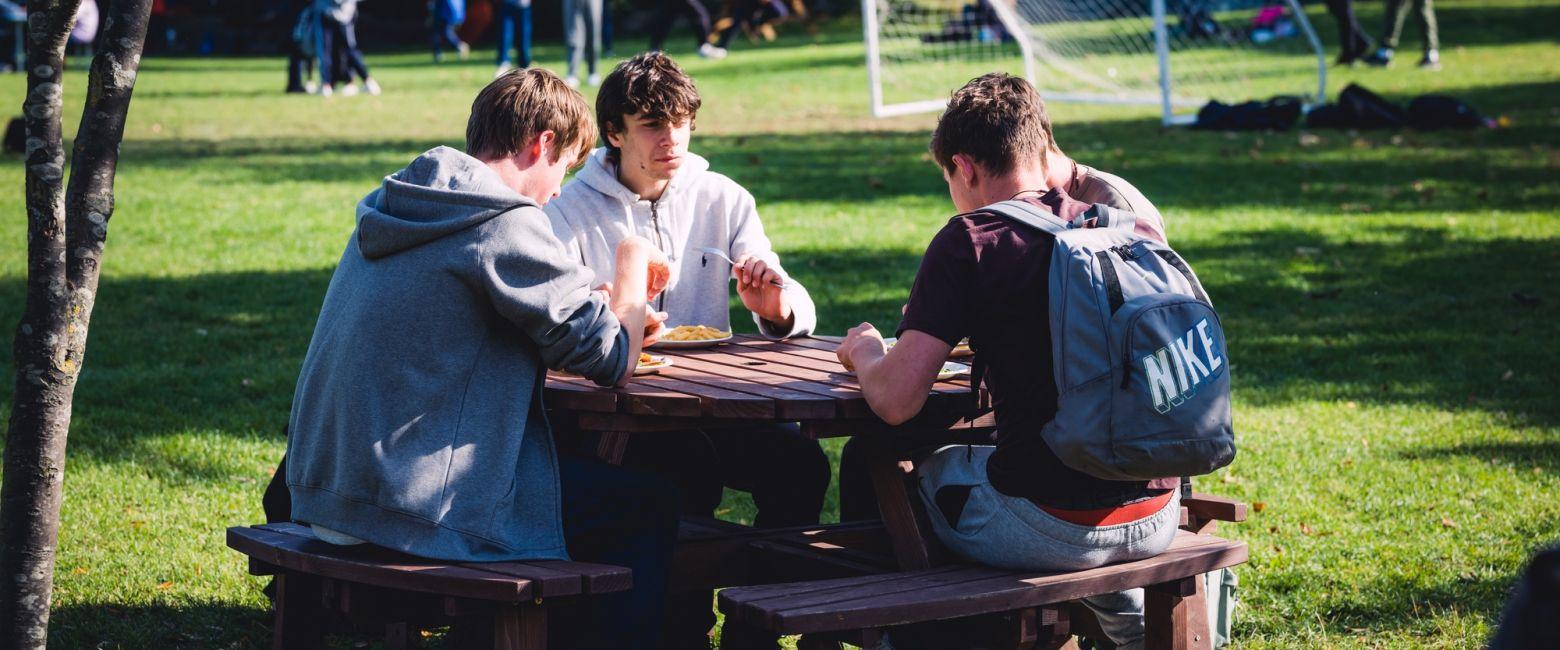 Students on Lunch Break
