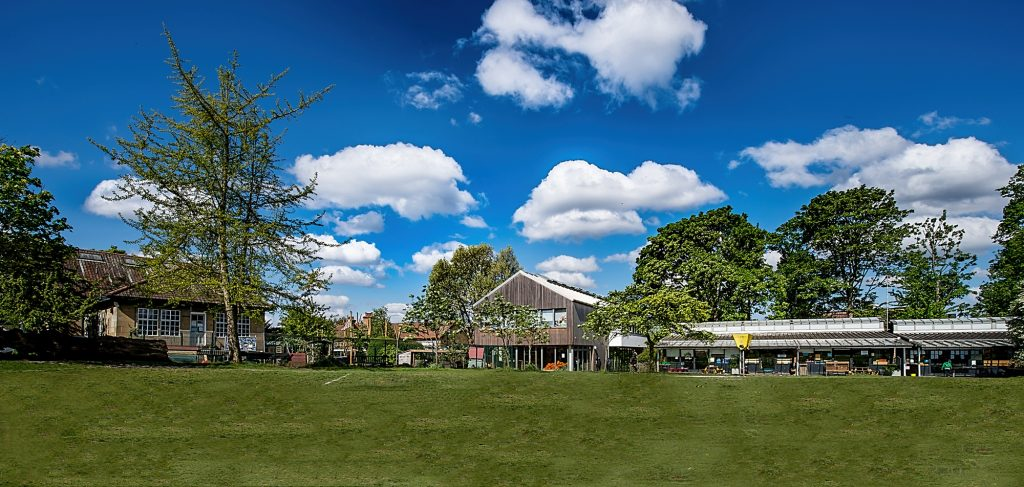 Lower School buildings on a sunny day