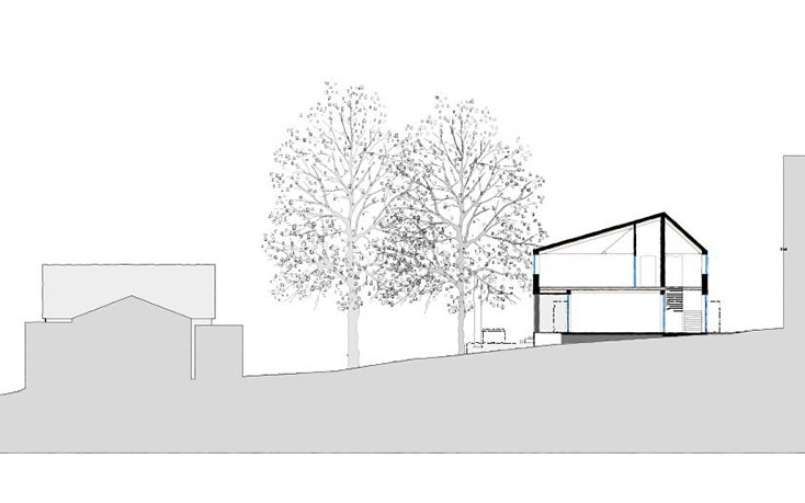 Cross section of proposed new Sixth Form Centre