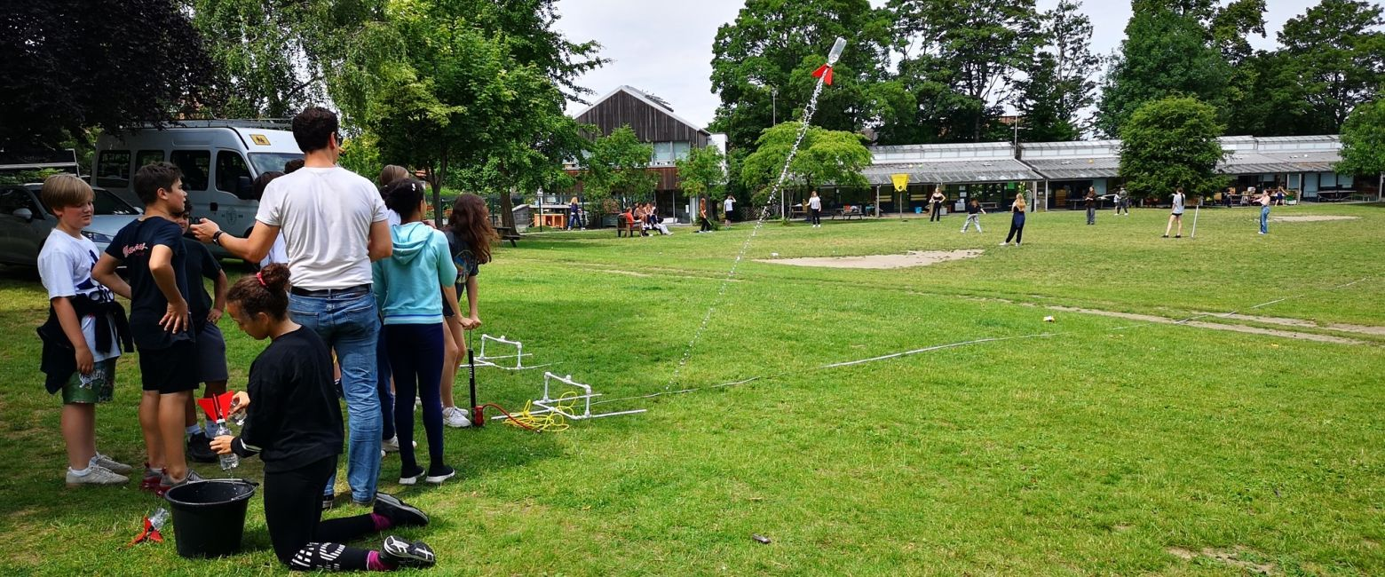 Bottle Rockets On Field