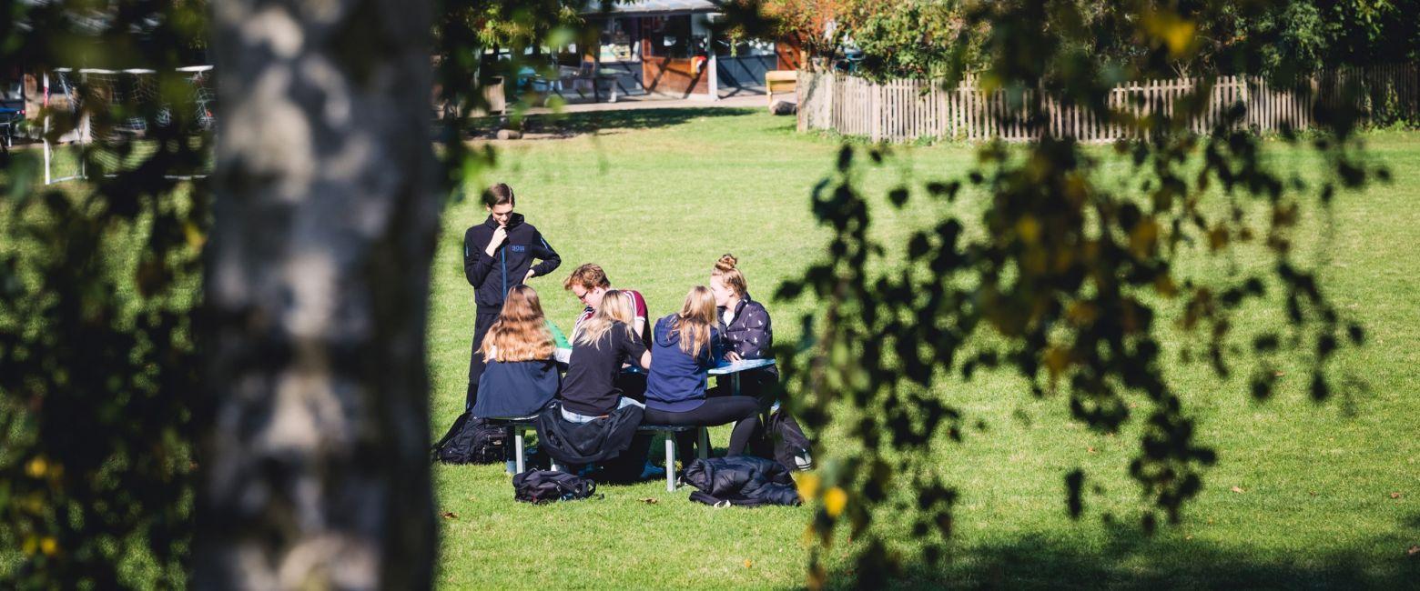 Students on School Field