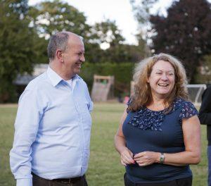 Dawn with former Head of Upper School, Rod Jackson