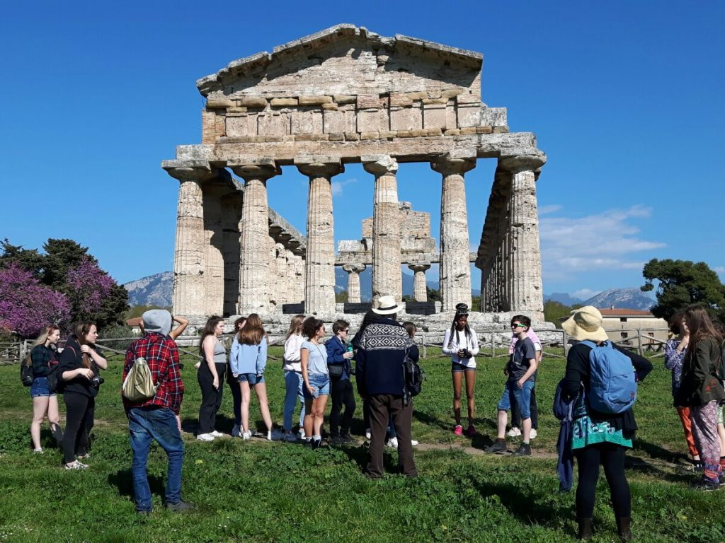 Students on a Latin trip