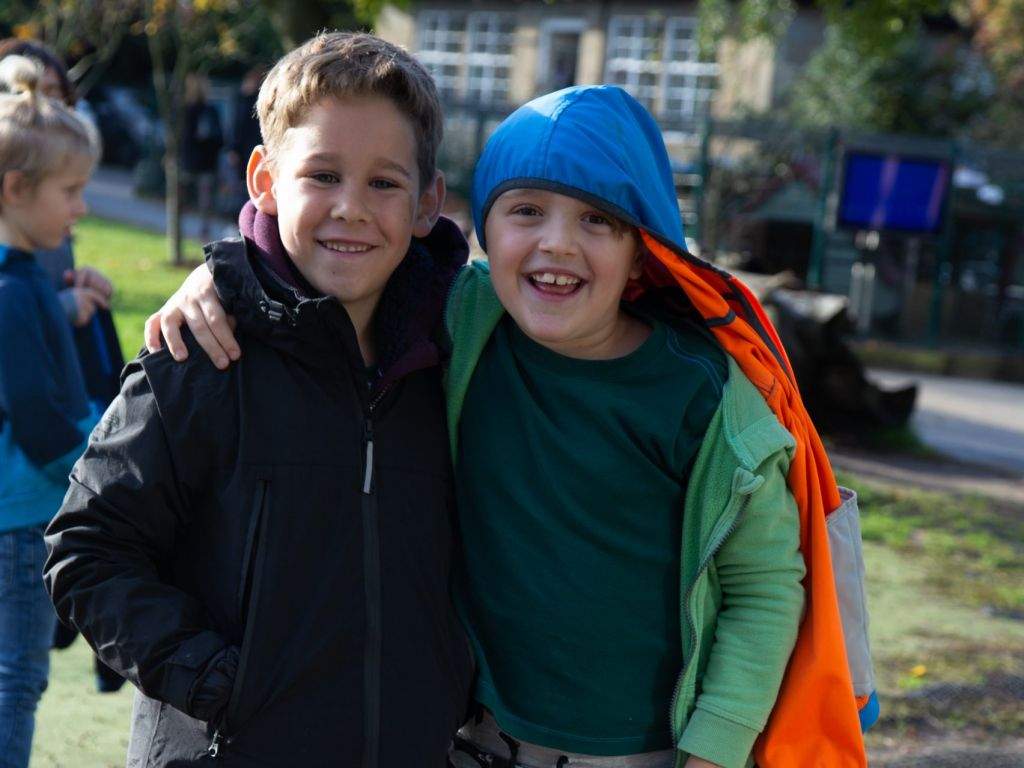 Lower School students heading to forest school