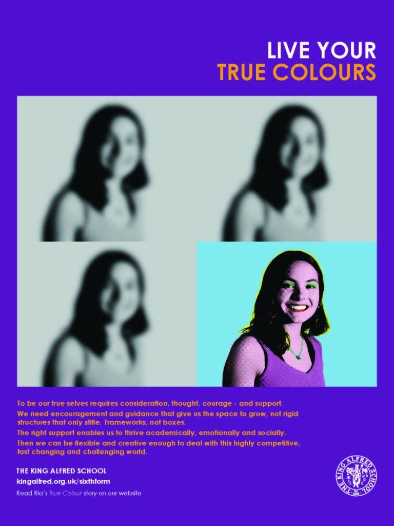 Print advert - Live Your True Colours