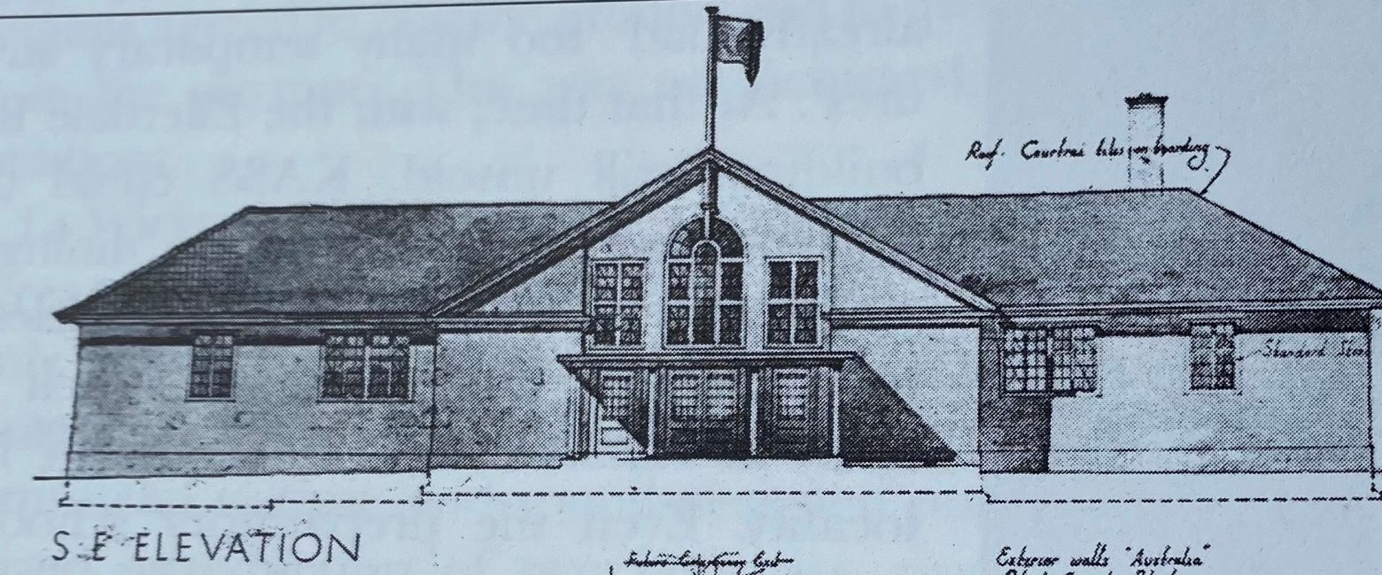 drawing of a building