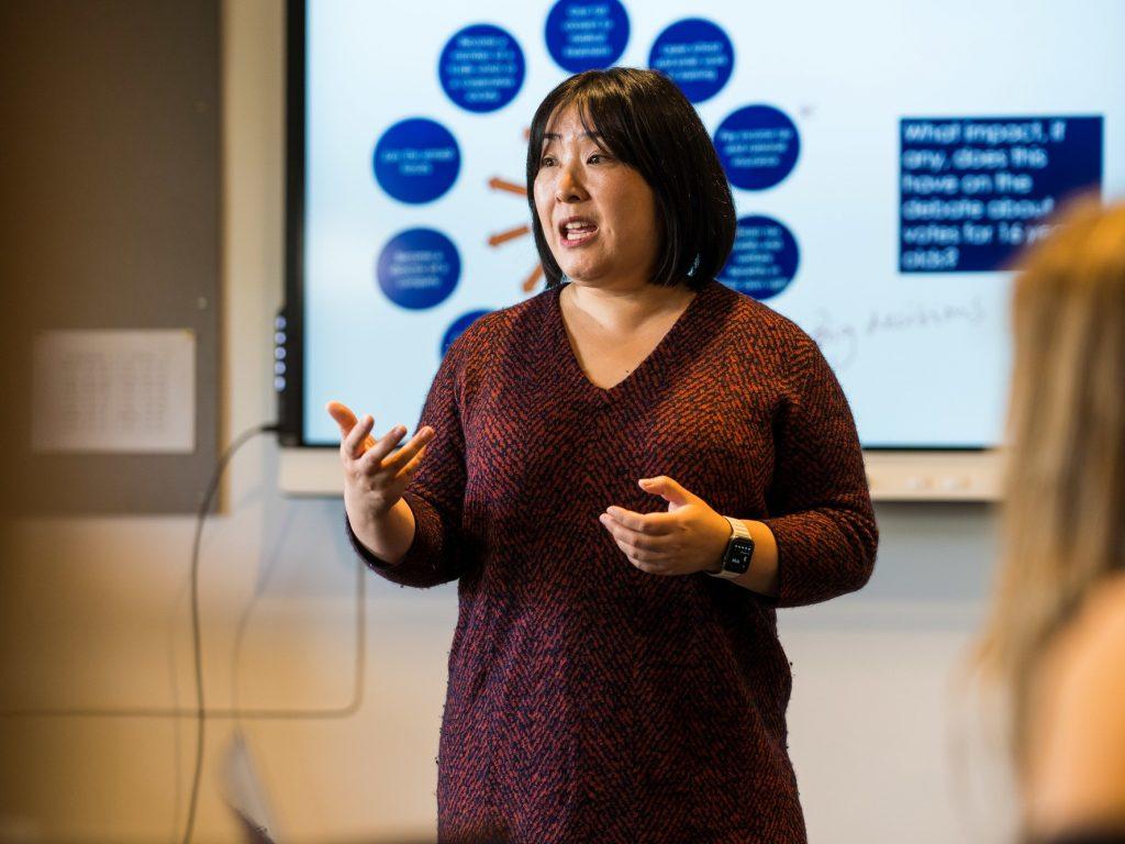Takako Yeung teaching A level Politics